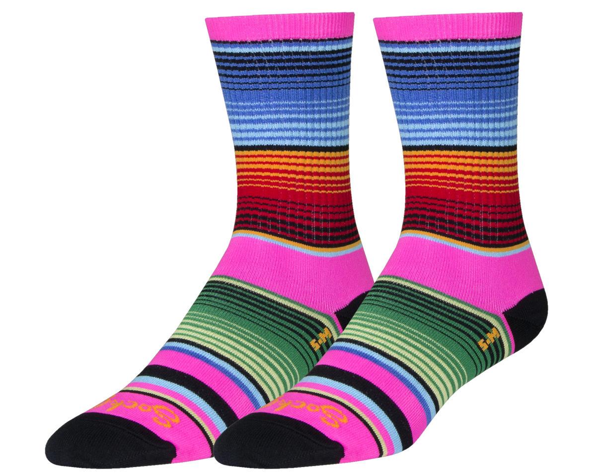 Sockguy Siesta Crew Socks (Pink/Blue/Orange) (M)