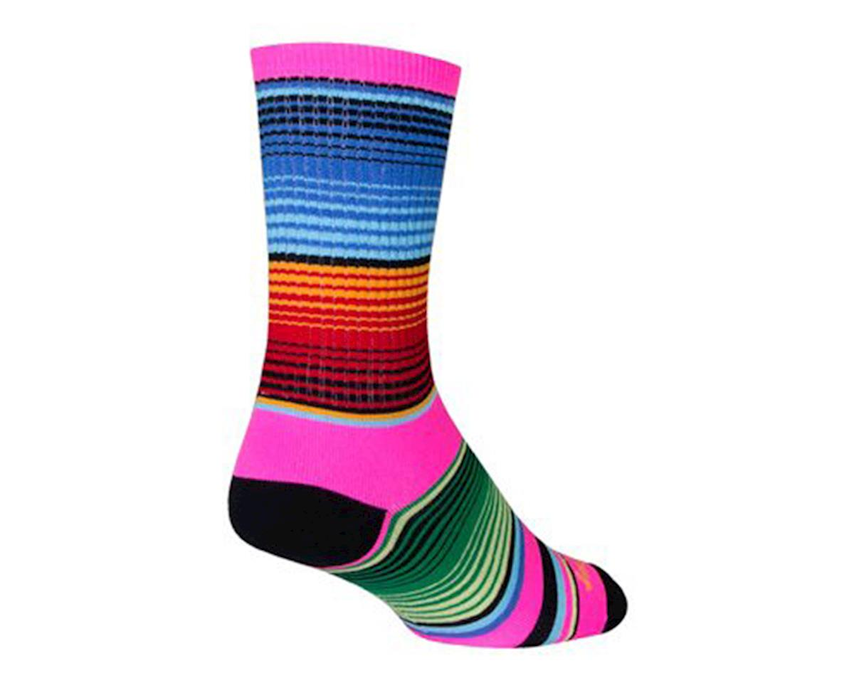 Sockguy Siesta Crew Socks (Pink/Blue/Orange) (L)