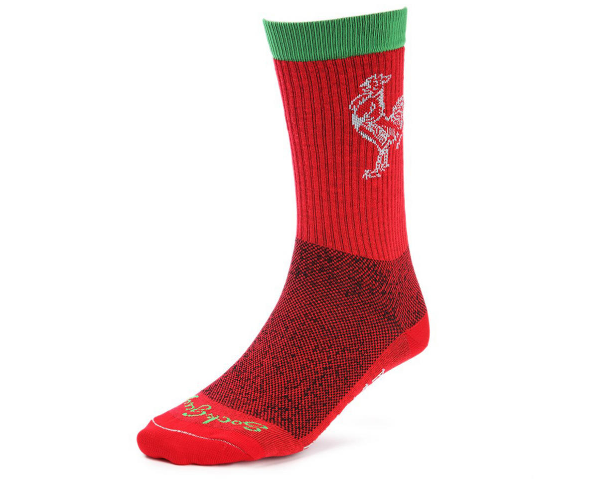 "Sockguy Sriracha 6"" Acrylic Crew Socks (S/M)"