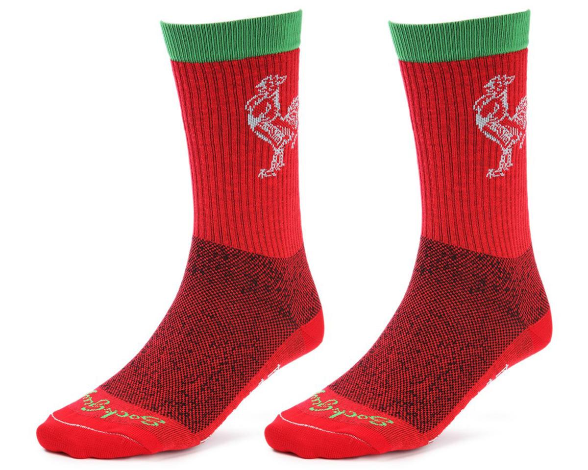 "Sockguy Sriracha 6"" Acrylic Crew Socks (L/XL)"