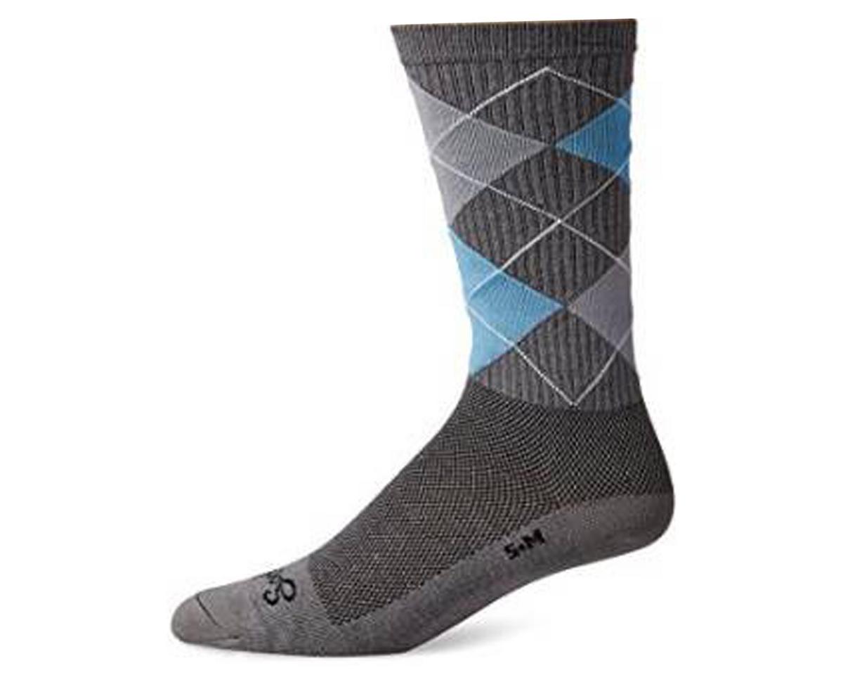 "Stay Classy 6"" Acrylic Crew Socks (Grey/Blue)"