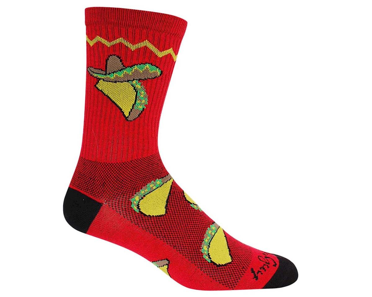 "Sockguy Taco Tuesday 6"" Acrylic Crew Socks (L/XL)"