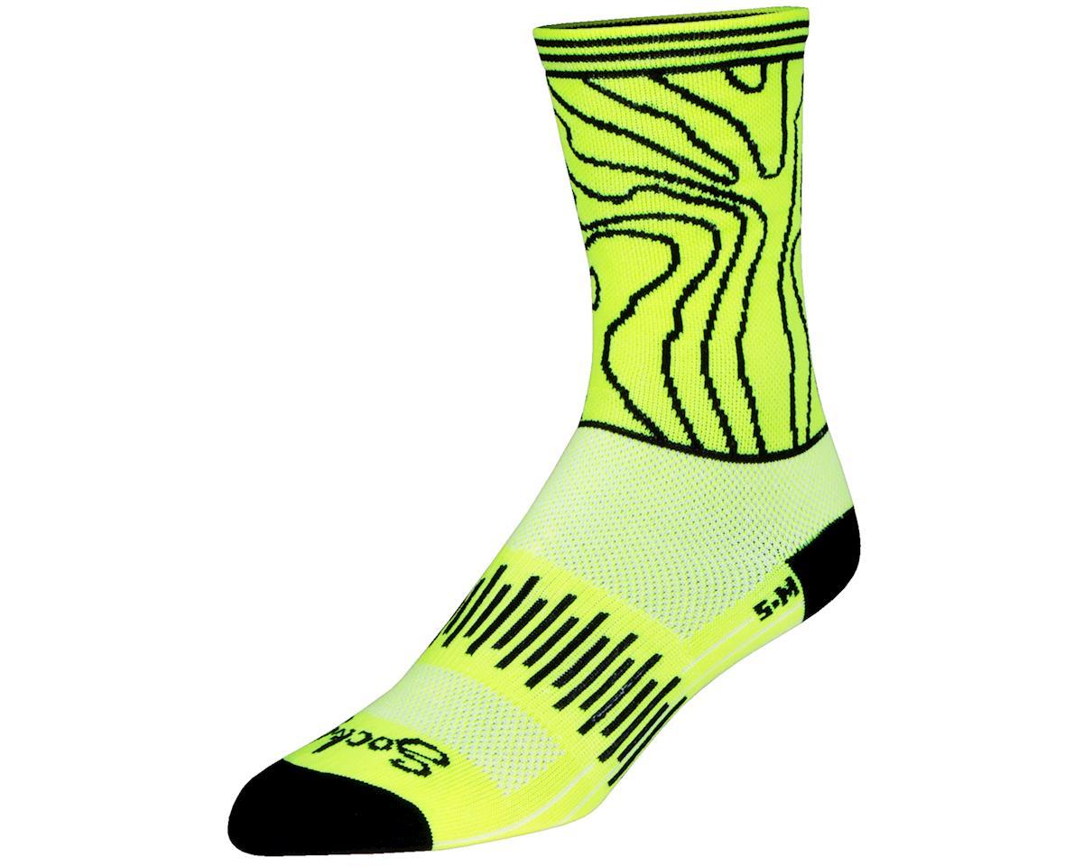 """Sockguy 6"""" Crew Socks (Topo) (L/XL)"""