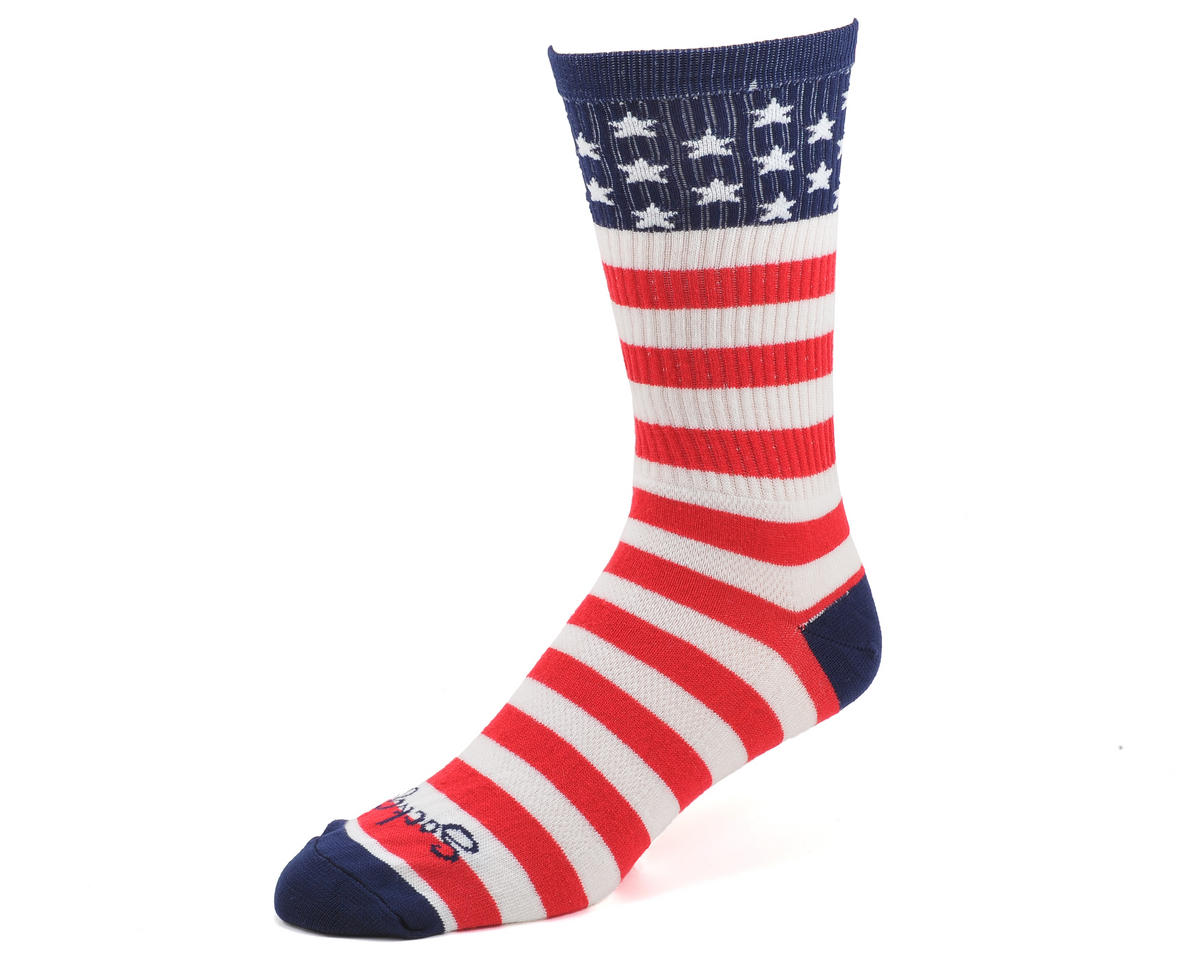 "USA Flag 8"" Acrylic Crew Socks"