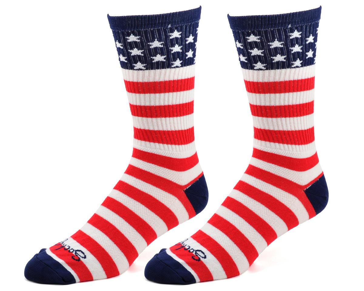 "Sockguy USA Flag 8"" Acrylic Crew Socks (S/M)"