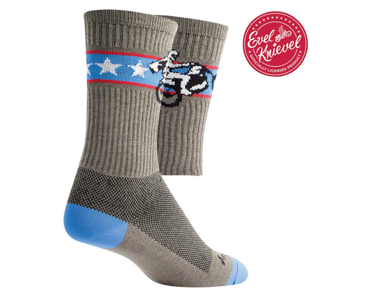Sockguy Crew Wheelie Sock (Gray) (L/XL)