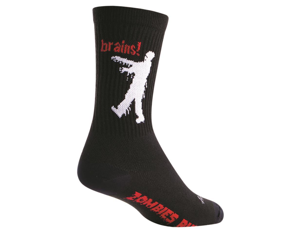 """Sockguy 6"""" Crew Socks (Zombie) (L/XL)"""