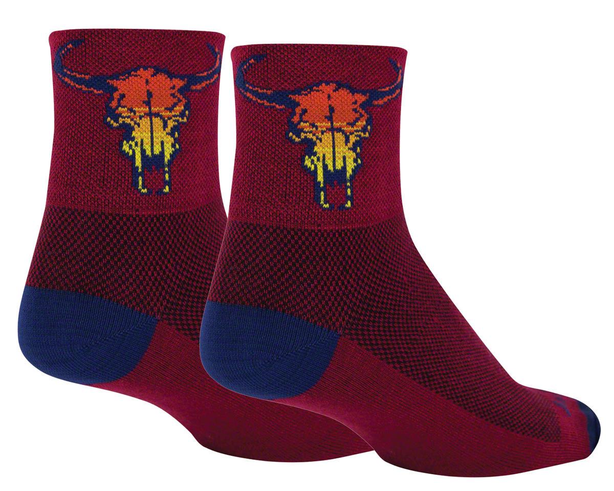 """Sockguy 3"""" Socks (Desert Skull) (L/XL)"""