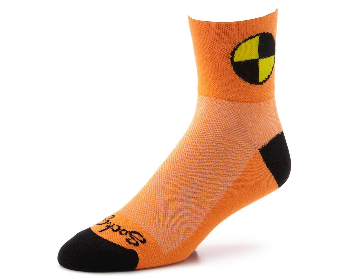Sockguy Crash Test Dummy Sock (Orange) (L/XL)