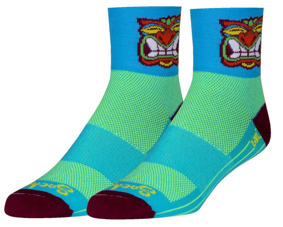 Sockguy Friki Tiki Socks (Blue) (S/M)