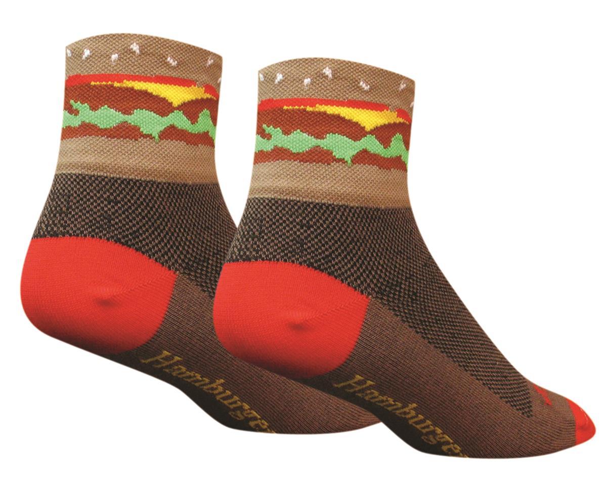 "Sockguy Hamburger 3"" Socks (Brown)"