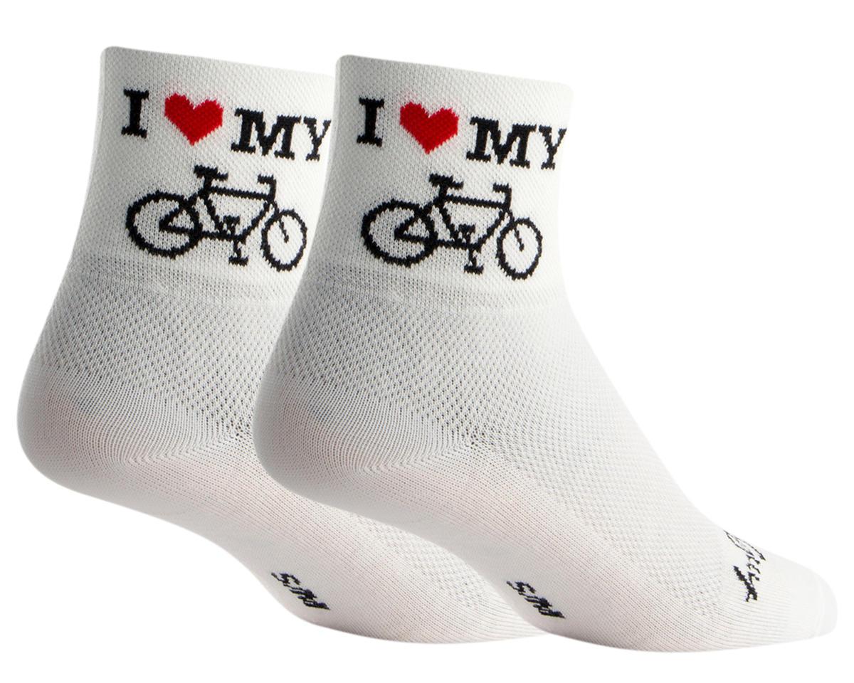 """Sockguy 3"""" Socks (I Heart My Bike) (S/M)"""