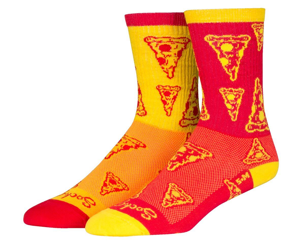 """Sockguy 6"""" Socks (Pizza) (L/XL)"""