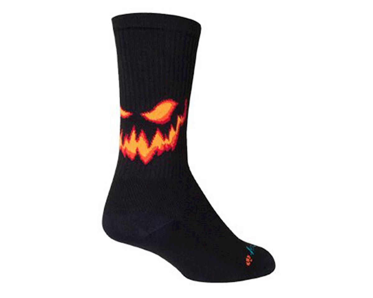 Sockguy Jack Limited Edition Crew Socks (Black/Orange) (L)
