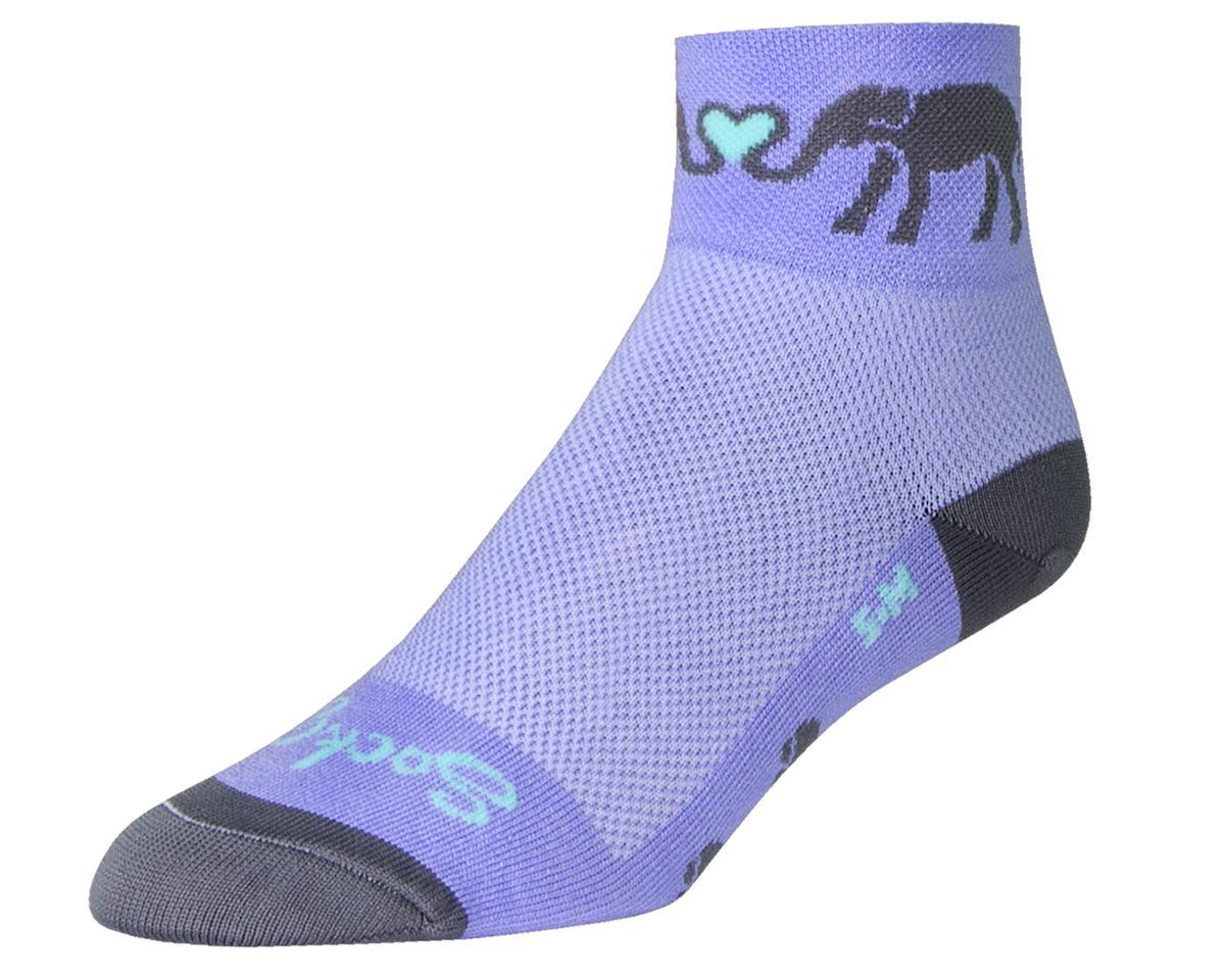 """Sockguy Women's 2"""" Cuff Socks (ELuv) (S/M)"""