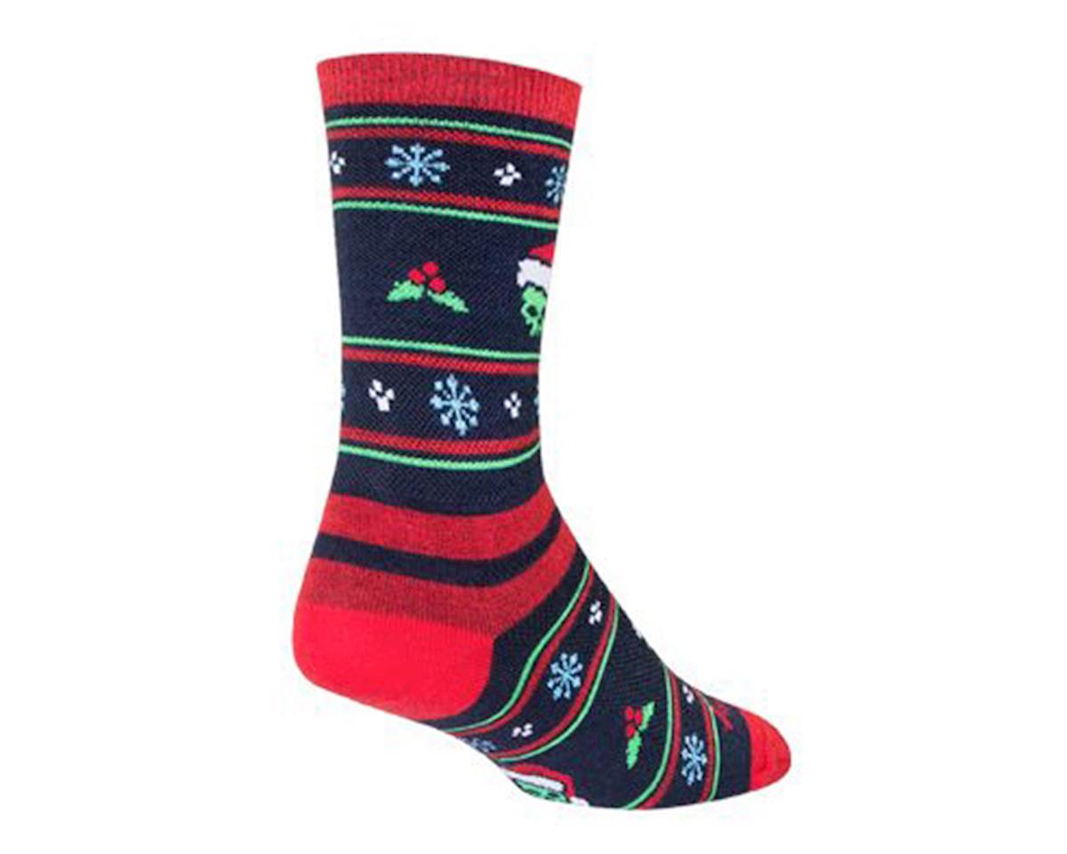 Sockguy Xmas Limited Edition Wool Crew Socks (Green/Red/Black) (L)
