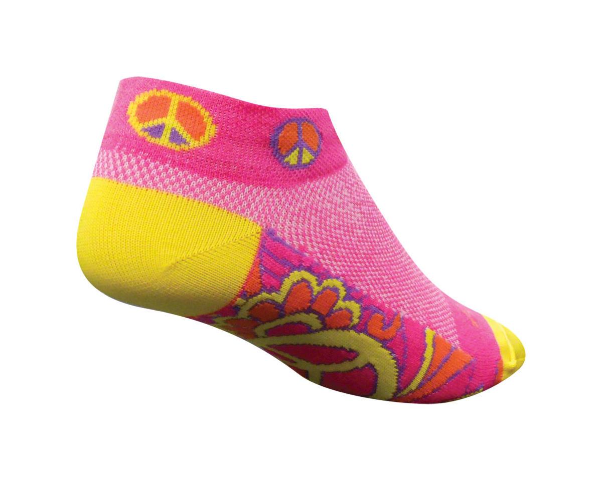 Sockguy Classic Groovy Women's Sock (Pink/Yellow) (S/M)