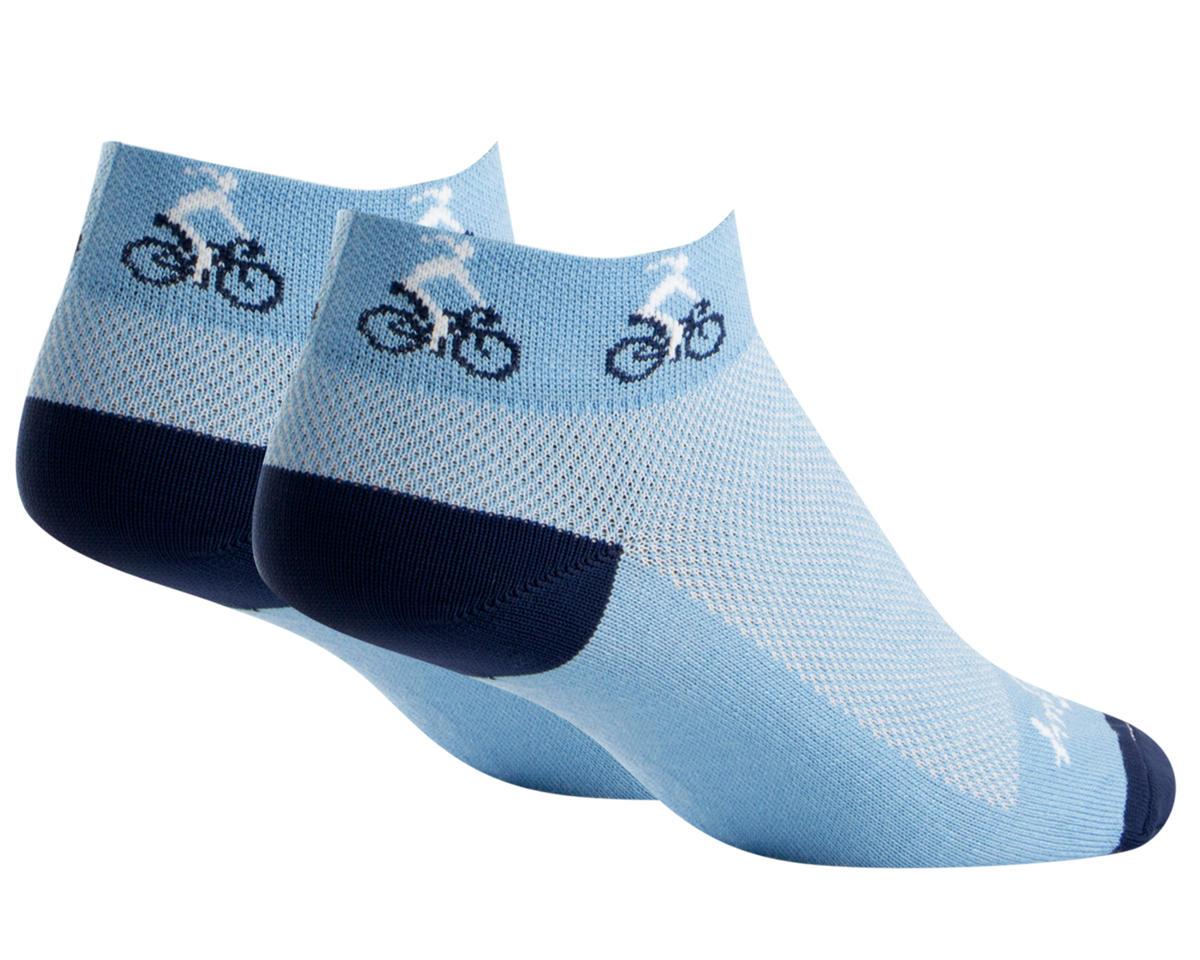 Sockguy Classic Ponytail Women's Sock (Blue) (S/M)