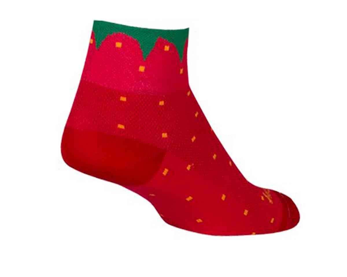 Sockguy Strawbizzle Socks (Red) (M)