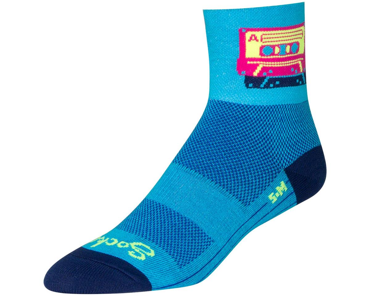 Sockguy Mixtape Socks (Blue/Pink) (L)