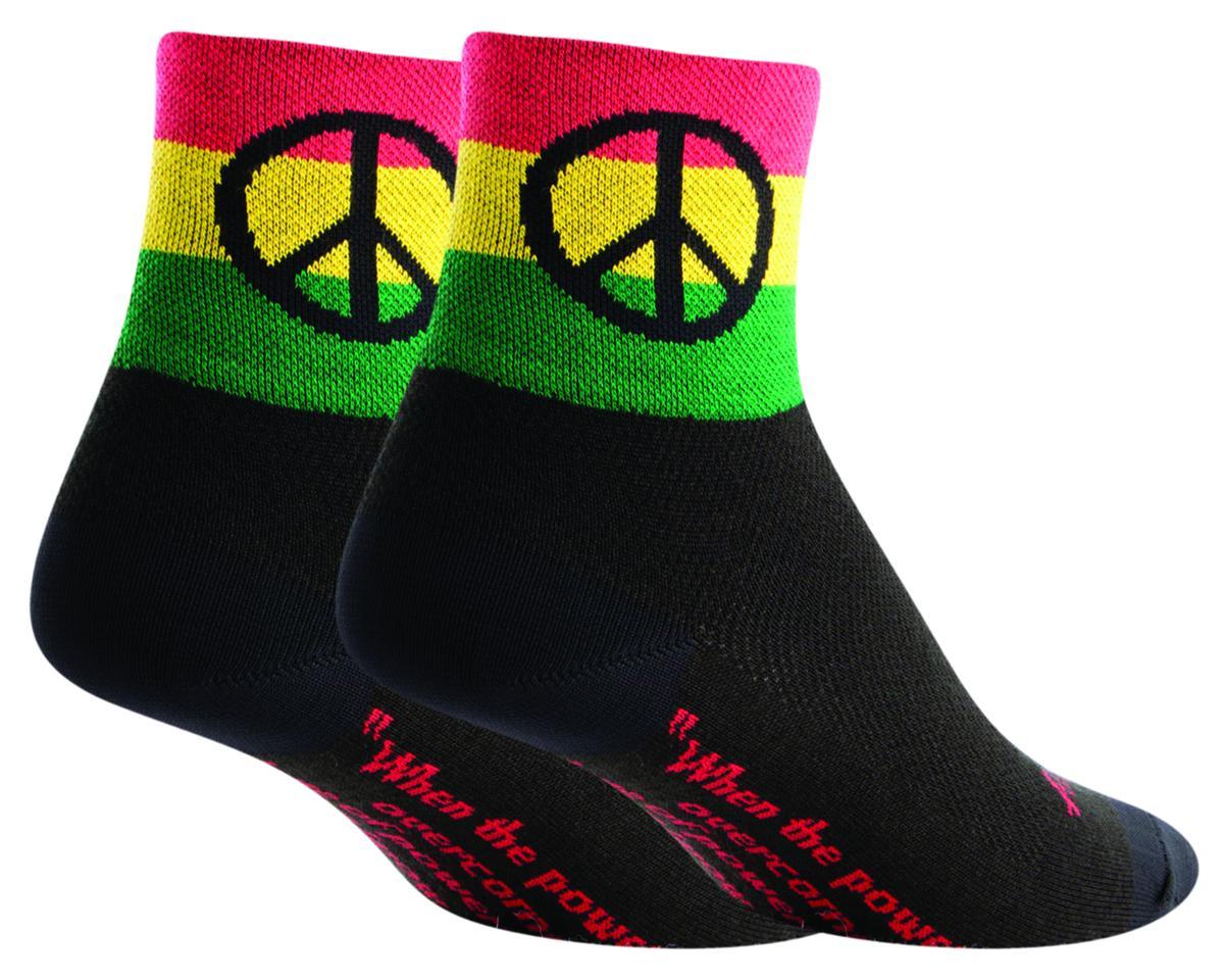 Sockguy Peace 3 Socks (Black) (L/XL)
