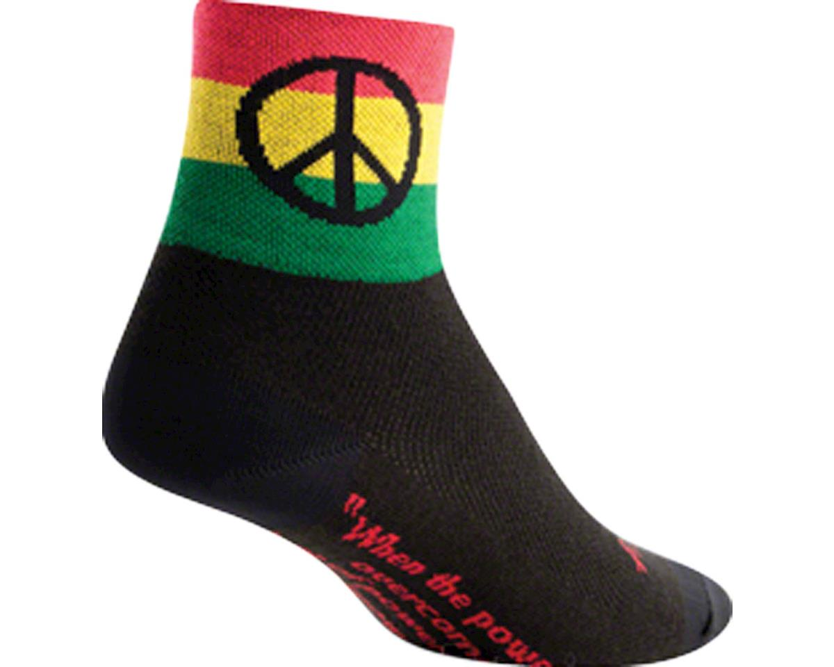 Sockguy Peace 3 Socks (Black) (S/M)