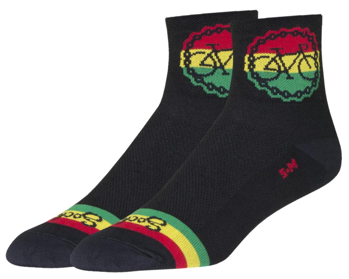 """Sockguy 3"""" Socks (Rasta Ride) (S/M)"""