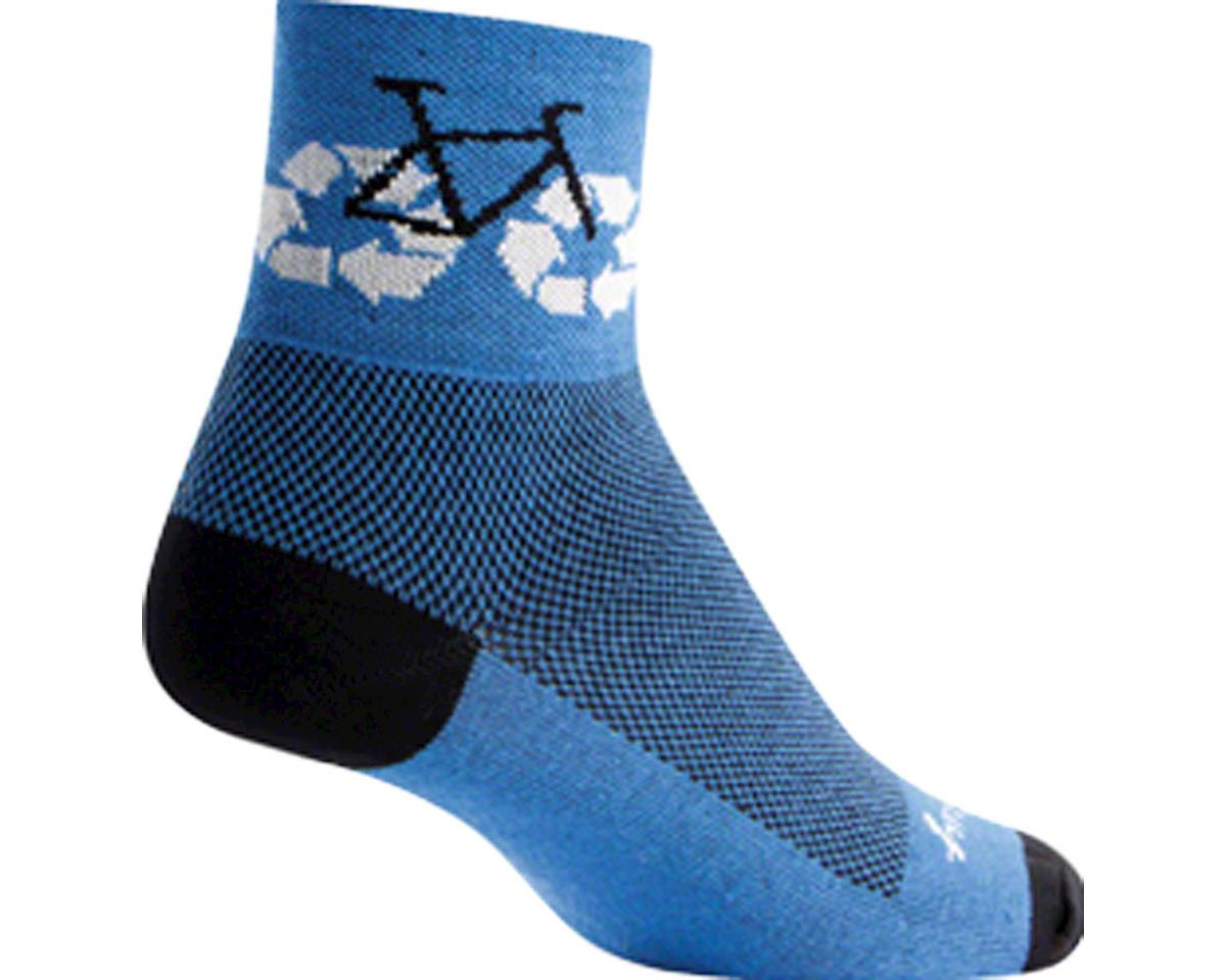 Sockguy Recycle Socks (Blue) (S/M)