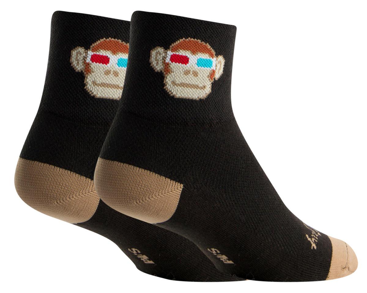 Sockguy Monkey See 3D Socks (Black) (S/M)