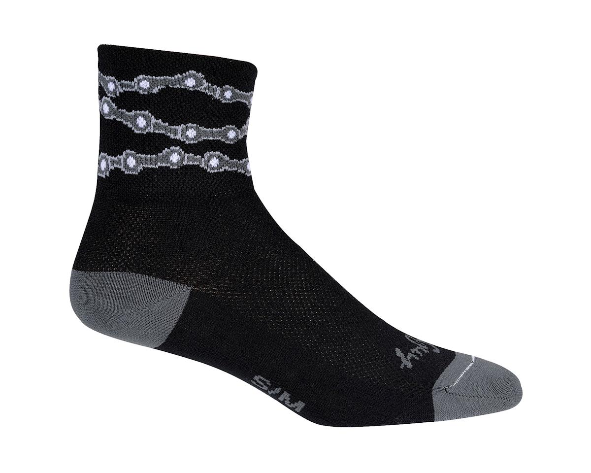 Sockguy Classic Chains Sock (Black) (S/M)