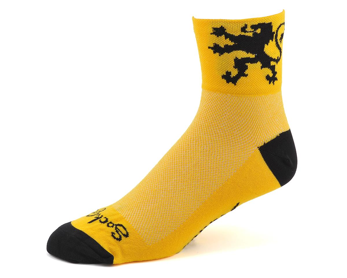 Sockguy Lion Of Flanders Socks (Yellow) (L/XL)