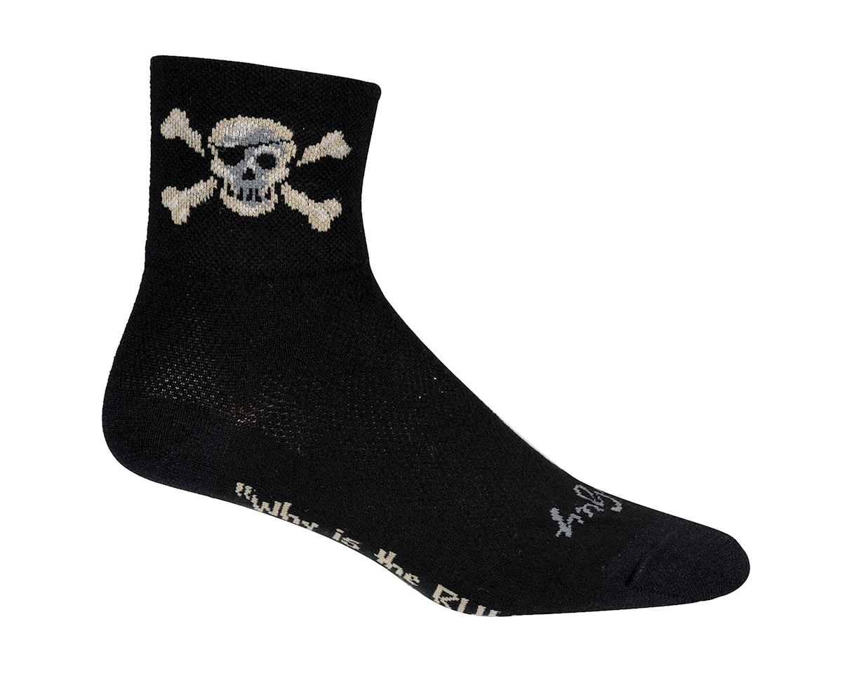 Sockguy Pirate Socks (Black) (L/XL)