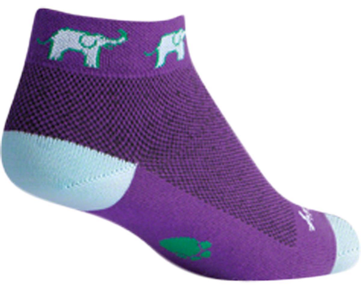 Sockguy Classic Tusker Women's Sock (Purple) (S/M)