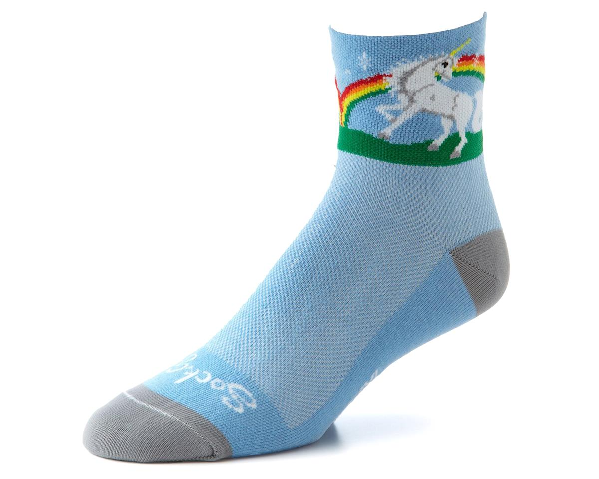 Sockguy Unicorn Socks (Blue) (L/XL)