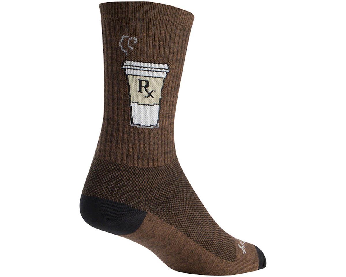 """Sockguy 6"""" Wool Socks (Addict) (L/XL)"""
