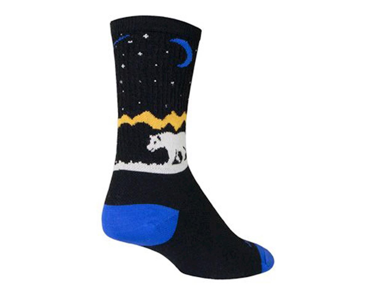 Sockguy Alaska Wool Crew Socks (Black/White/Yellow)