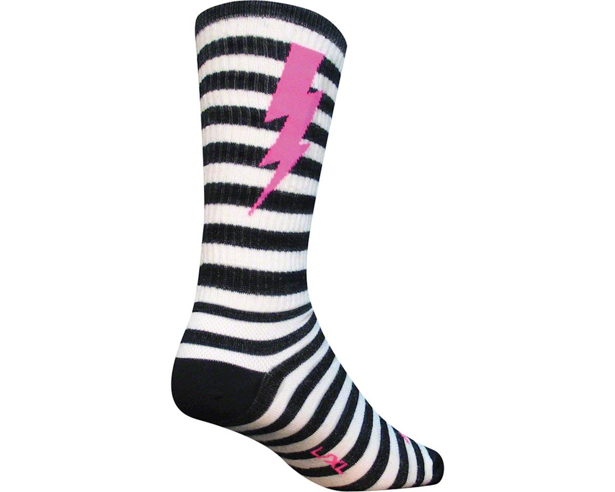 "Sockguy 8"" Wool Socks (Lightning) (L/XL)"
