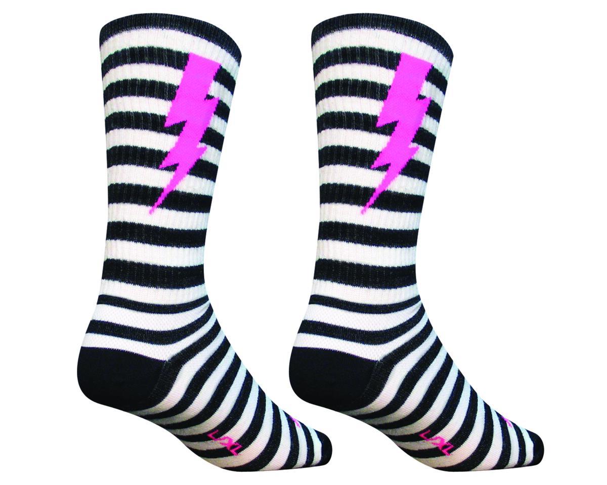 """Sockguy 8"""" Wool Socks (Lightning) (S/M)"""