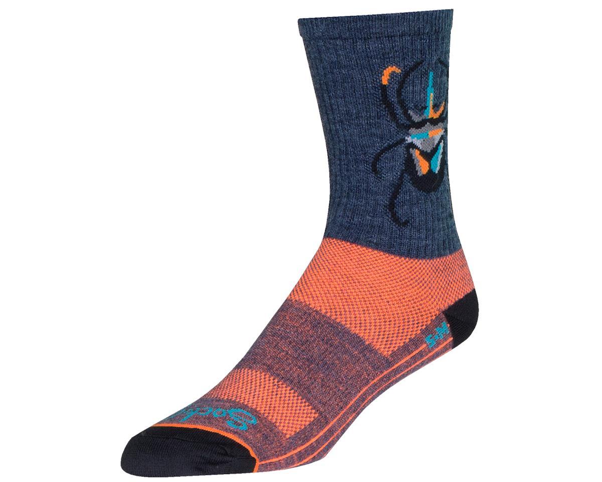 "Sockguy 6"" Wool Crew Socks (Beetle) (L/XL)"
