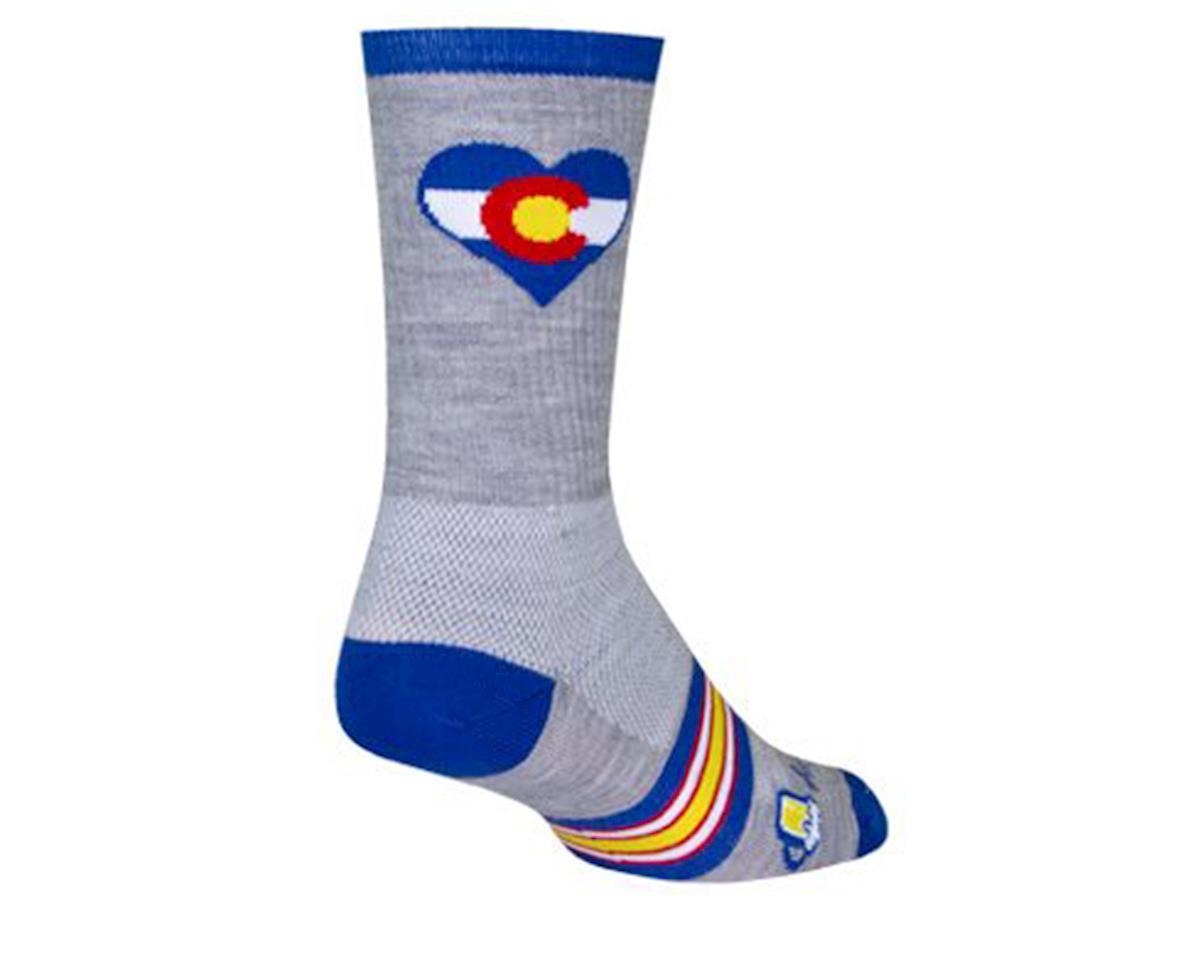 "Sockguy 6"" Socks (Colorado Luv) (L/XL)"