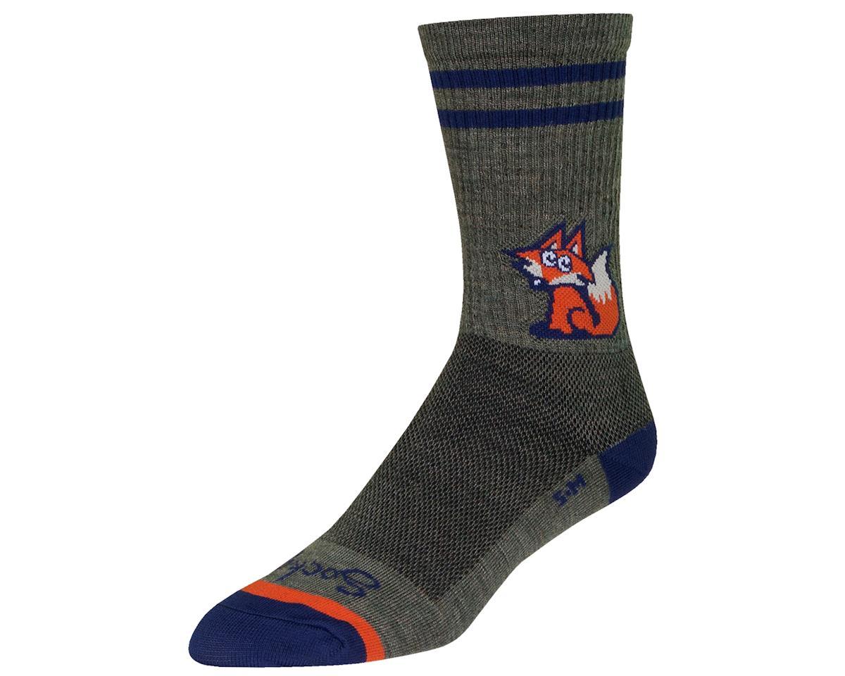 """Sockguy 6"""" Wool Socks (Foxtail) (L/XL)"""