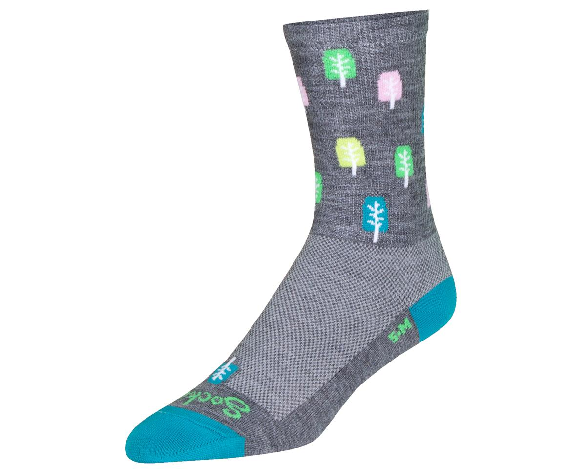 """Sockguy 6"""" Wool Crew Socks (Glen) (S/M)"""
