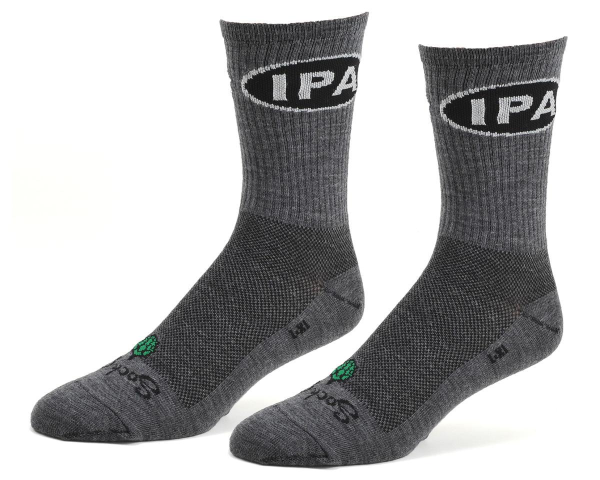 """Sockguy 6"""" Wool Crew Socks (IPA) (L/XL)"""
