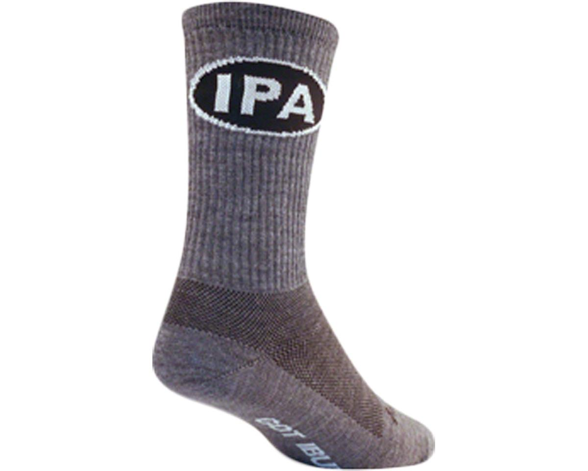 """Sockguy 6"""" Wool Socks (IPA) (L/XL)"""