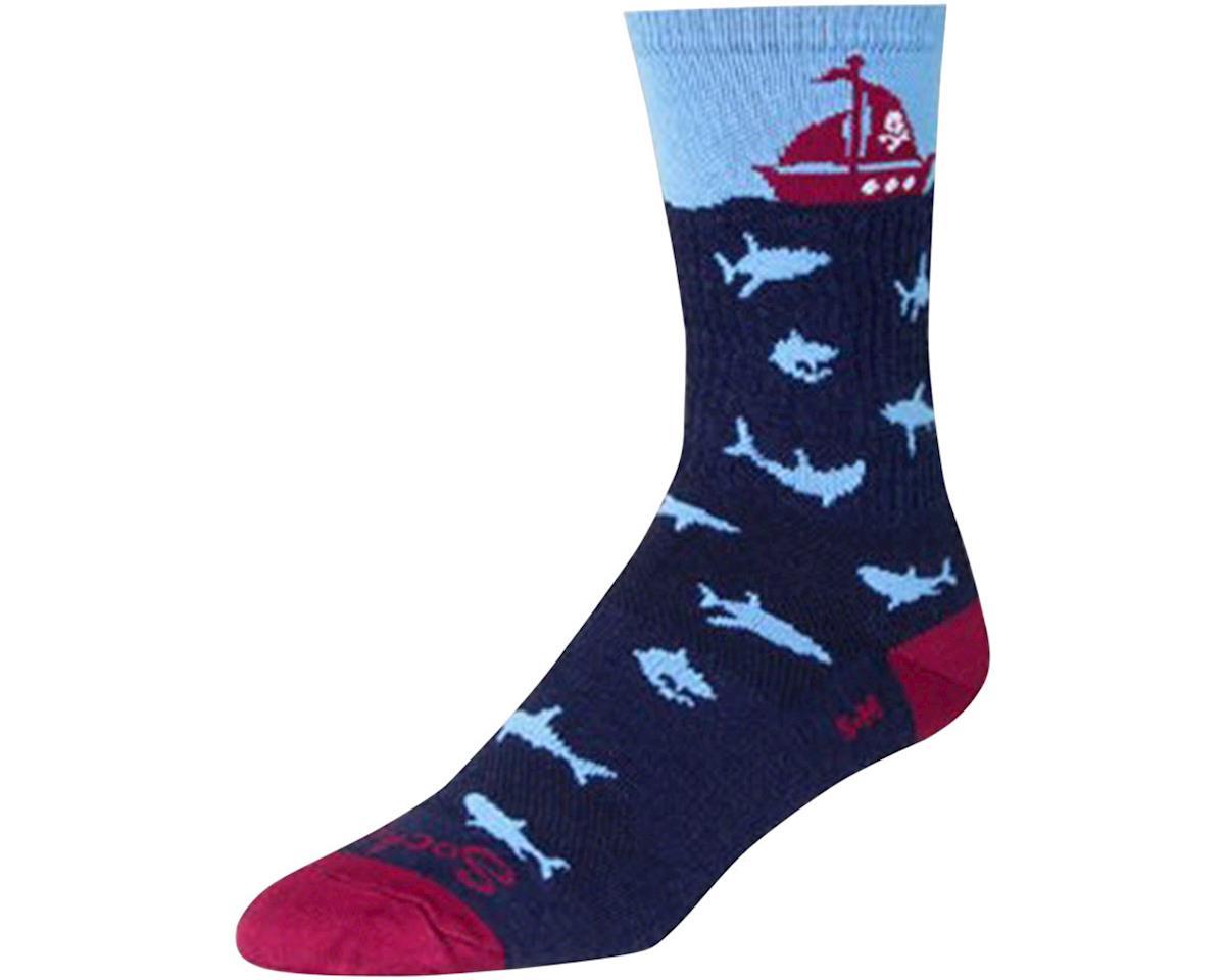 """Sockguy 6"""" Wool Socks (Lunch) (L/XL)"""