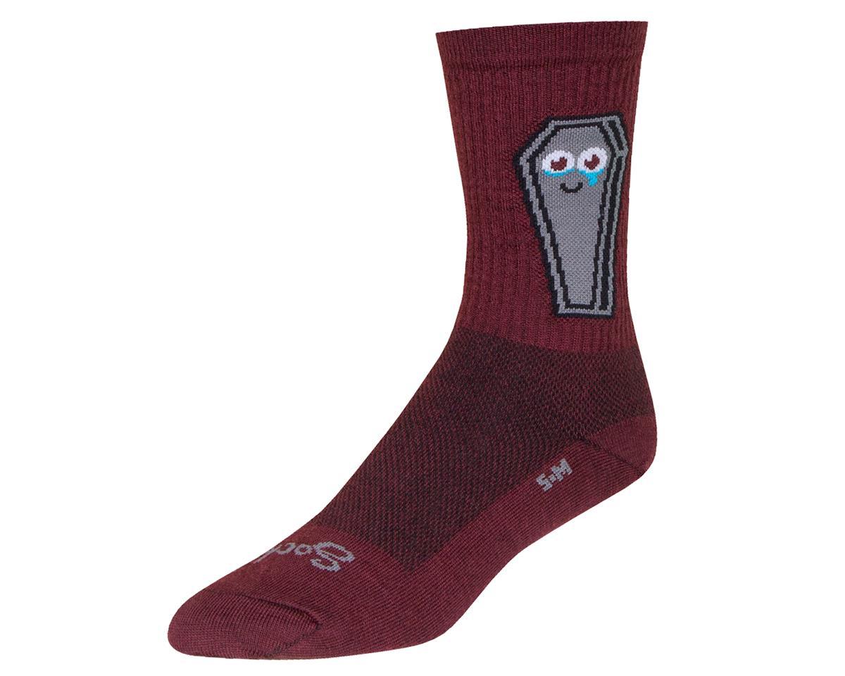 """Sockguy 6"""" Wool Crew Socks (Misfit) (L/XL)"""
