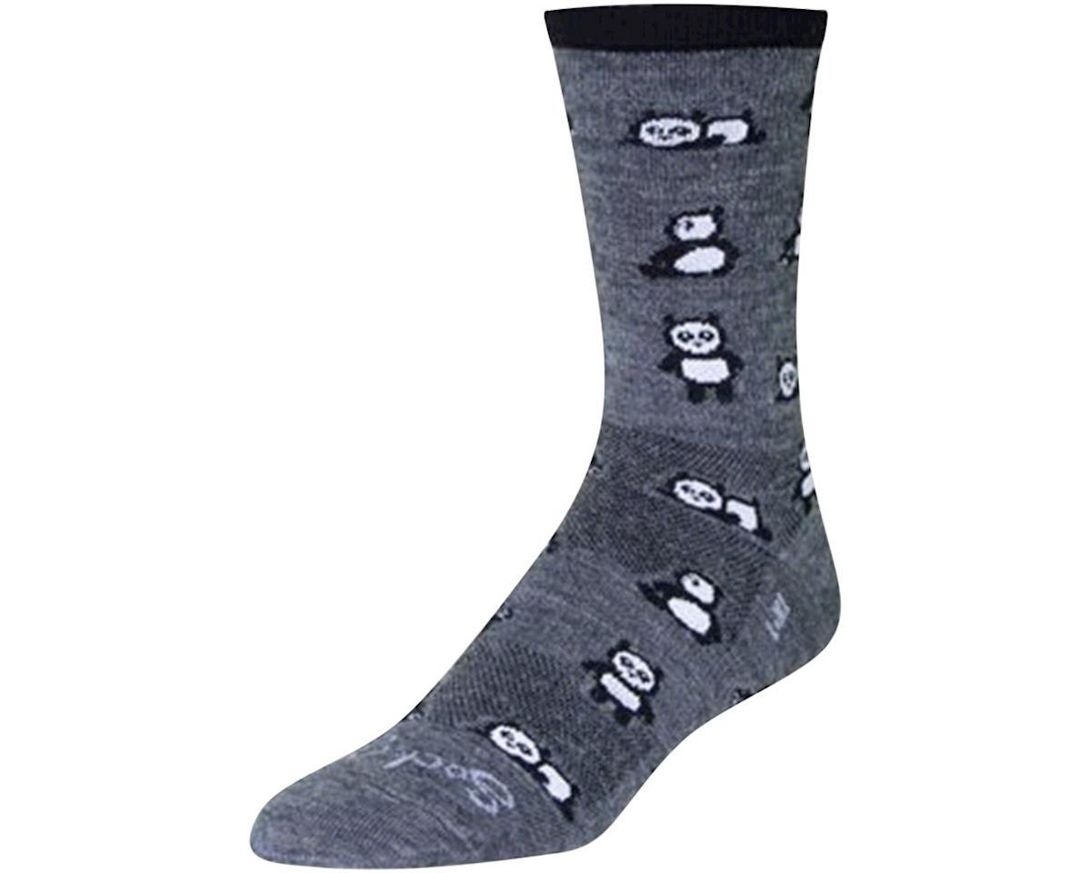 Sockguy Pandamonium Wool Crew Socks (Grey)