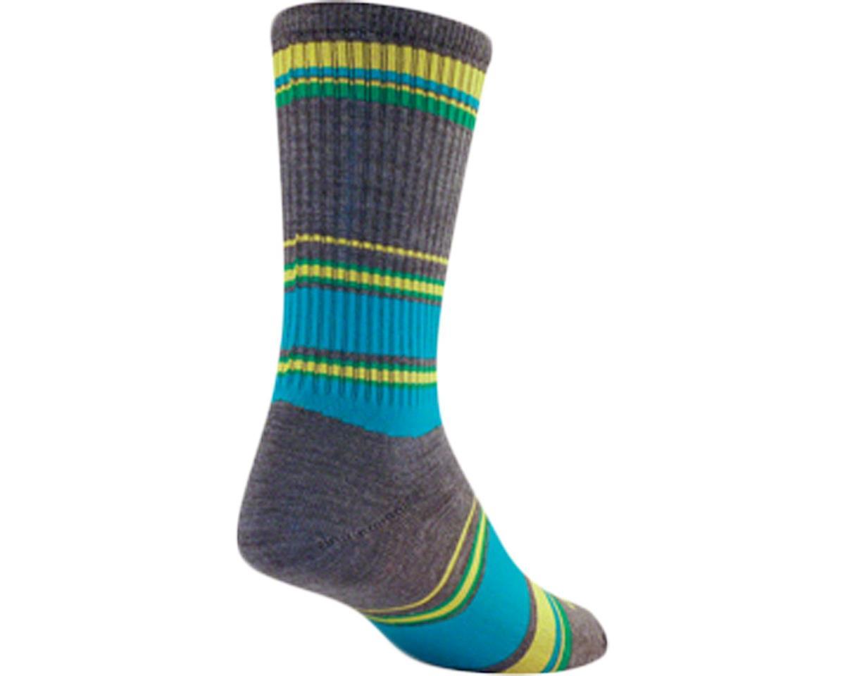 Sockguy Wool River Sock (Gray/Blue) (S/M)