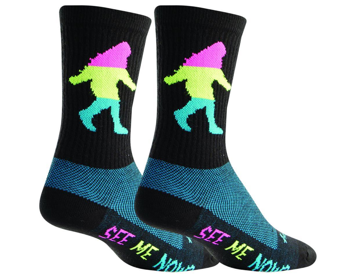 Sockguy Wool Sasquatch Neon Sock (Black) (L/XL)