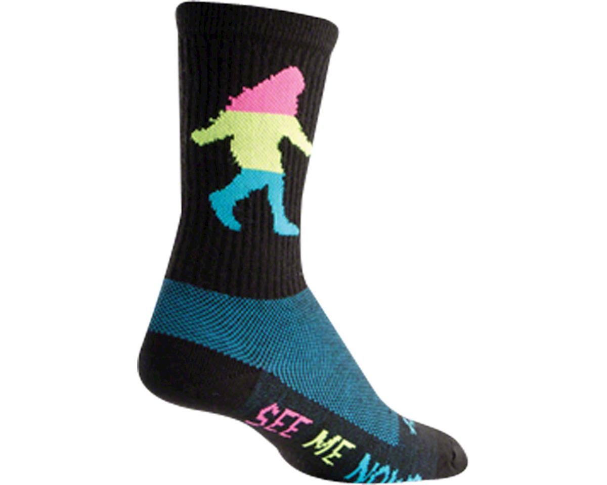 Sockguy Wool Sasquatch Neon Sock (Black) (L/XL)